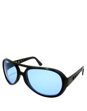 Elvis Sunglasses, Elvis Black Blue Style 6