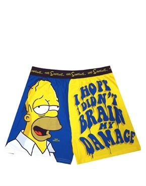 Simpsons Homer Simpson Brain Damage Boxer Shorts Animated