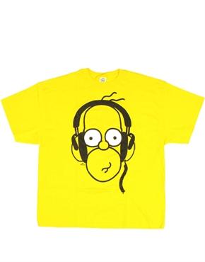 Simpsons T-Shirt, Simpsons Homer Headphones Yellow T-Shirt ...