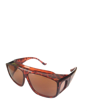 Fitover Sunglasses, Fitover Tortoise Brown Style 2
