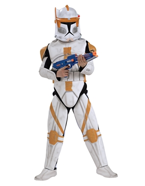 star wars costume, kids deluxe clone trooper commander cody outfit | the movie shop