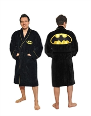 Batman Bathrobe, Batman Dressing Gown Bathrobe, Classic Cotton Black