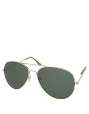 Top Gun Style Maverick Aviator Sunglasses, Gold Frame / Smoke Lens
