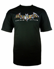 Batman T-Shirt, Batman Arkham Asylum Logo Black