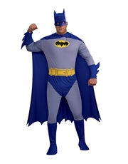 Batman Costume, Mens Batman Brave Bold Classic Big Costume