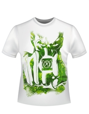Green Lantern T-Shirt, Green Lantern Fist Watercolour White