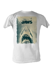 Jaws T-Shirt, Jaws Poster White