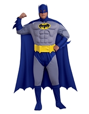 Batman Costume, Mens Batman Brave Bold Muscle Big Costume