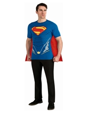 Man Of Steel Costume, Mens Superman Costume Top