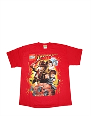 Indiana Jones T-Shirt, Indiana Jones Kids T-Shirt, Lego Red