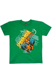 Spider-Man Amazing Shoot 3D Green Child T-Shirt