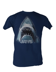 Jaws T-Shirt, Jaws Head Navy Blue