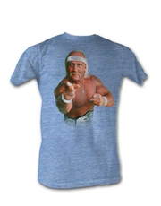 WWE T-Shirt, WWE Hulk Hogan Faded Blue Heathered