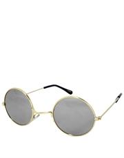Teashade Sunglasses, Teashade Round Style 2, Gold Frame / Full Mirror Lens