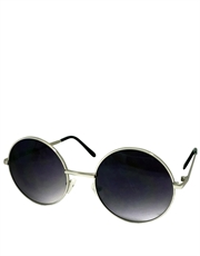 Teashade Sunglasses, Teashade Round Silver Purple Gradient LARGE Style 14