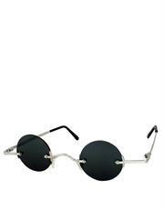 Teashade Sunglasses, Teashade Round Silver Smoke Style 8