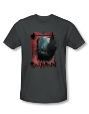 Batman T-Shirt, Batman Dark Knight Rises T-Shirt, Batman Fear Me Charcoal