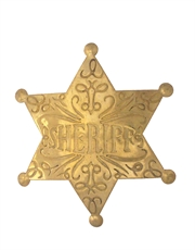 Western Cowboy Sheriff Badge