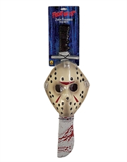 Friday The 13th Costume Accessory, Mens Jason Voorhees Mask And Machete
