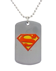 Superman Camo Dog Tag Necklace