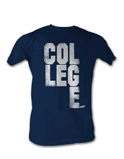 Animal House T-Shirt, College Scrabble Navy Blue