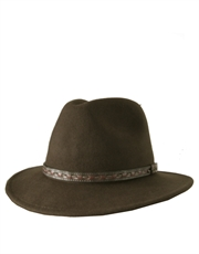 Safari Hat, Crushable Wool Felt Hat, Olive