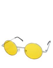 Teashade Sunglasses, Teashade Round Silver Yellow Style 7