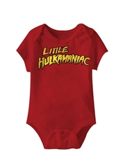 WWE Bodysuit, WWE Baby Bodysuit, Hulk Hogan Little Hulkamaniac Red