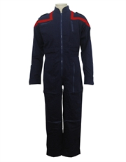 Star Trek Enterprise Jumpsuit Costume, Navy & Red