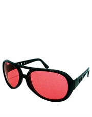 Elvis Sunglasses, Elvis Black Red Style 6