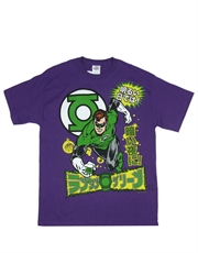 Green Lantern T-Shirt, Green Lantern Japanese Purple