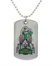 Green Lantern Rocket Dog Tag Necklace