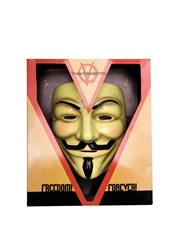 V For Vendetta Costume Accessory, Mens V For Vendetta Mask Style 2