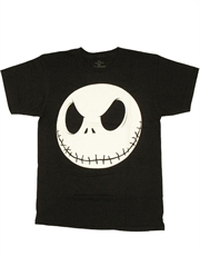Nightmare Before Christmas T-Shirt, Nightmare Before Christmas Jack Skellington Head Black