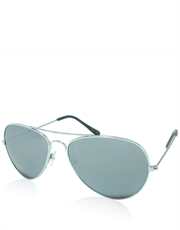 Expendable 3 Style Aviator Sunglasses, Silver Frame / Full Mirror Lens