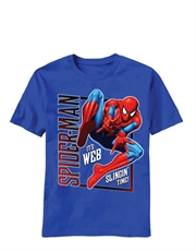 Spiderman T-Shirt, Spiderman Kids T-Shirt, Slingin Time Blue