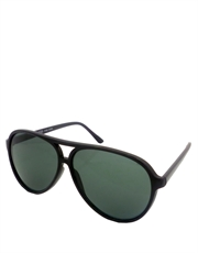 Depp Blow Style Aviator Sunglasses, Black Frame / Smoke Lens
