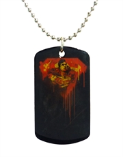 Superman Drip Dog Tag Necklace