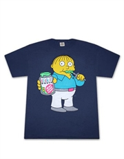 Simpsons T-Shirt, Simpsons Ralph Stick It Paste Navy