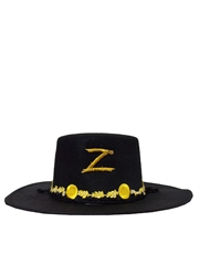 Zorro Costume Accessory, Mens Zorro Hat Style 2