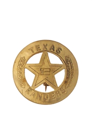 Western Cowboy Texas Rangers Badge