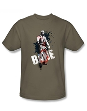 Bane T-Shirt, Bane Dark Knight Rises T-Shirt, Bane Art Splatter Safari Green