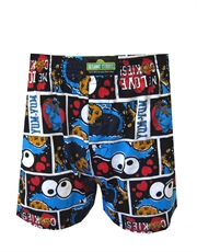 Sesame Street Underwear, Mens Sesame Street Underwear, Cookie Monster Comics Boxer Shorts