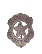 Western Cowboy Marshal Dodge City Badge