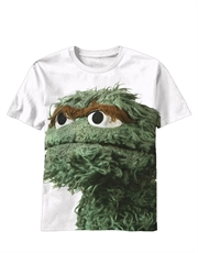 Sesame Street T-Shirt, Sesame Street Oscar Big Photo White