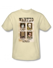 DC Comics T-Shirt, DC Comics Wanted Poster Cream