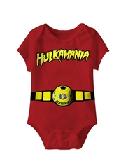 WWE Bodysuit, WWE Baby Bodysuit, Hulk Hogan World Champ Red