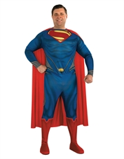 Man Of Steel Costume, Mens Superman Classic Big Costume Style 1