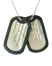 Iceman Military Dog Tags Replica Necklace
