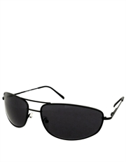 Departed M. Damon Style Sunglasses, Black Frame / Smoke Lens